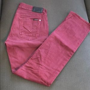 Maroon/red Hudson jeans